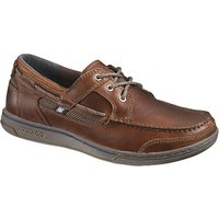 Sebago Triton 3-Eyelet Leather Boat Shoes, Dark Brown