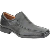 Clarks Francis Flight Leather Slip-On Shoes, Black