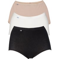 Sloggi 3 Pack Maxi Pants, Black / White / Nude