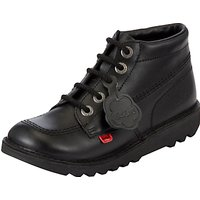 Kickers Leather Lace-Up Hi Boots, Black