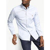 Polo Ralph Lauren Slim Fit Striped Oxford Shirt, Blue/White