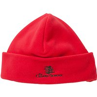 The Cedars School Embroidered Fleece Hat, Red