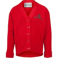 The Cedars School Girls V-Neck Cardigan, Red