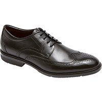 Rockport City Smart Wing Tip Brogue Shoes, Black