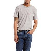 Levis One Pocket Crew Neck T-Shirt, White Smoke