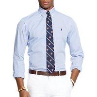 Polo Ralph Lauren Cotton Poplin Shirt, Blue