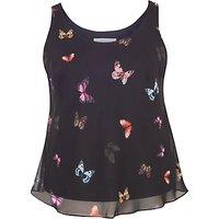 Chesca Small Butterfly Print Camisole, Black/Multi