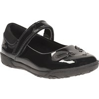 Clarks Childrens Nibbles Bee Rip-Tape School Shoes, Black