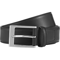 John Lewis Classic Leather Belt, Black