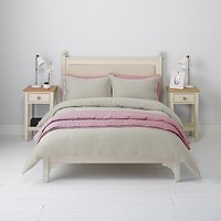 John Lewis Herringbone Duvet Cover and Pillowcase Set, Grey