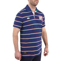 Canterbury of New Zealand British Lions Rugby Polo Shirt, Blue