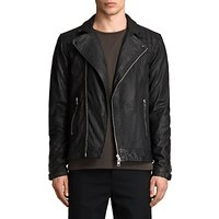 AllSaints Kushiro Leather Biker Jacket, Black