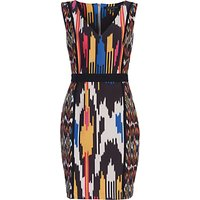 French Connection Matos Stripe Dress, Black/Multi