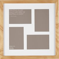 John Lewis Multi-aperture Oak Square Photo Frame, 4 Photo, 4 x 6 (10 x 15cm)