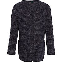John Lewis Girls Long Length Cardigan, Peacoat