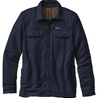 Patagonia Insulated Fjord Flannel Mens Jacket, Navy Blue