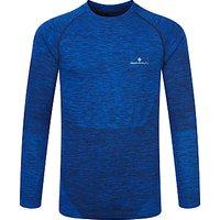 Ronhill Long Sleeve Running Top, Cobalt/Black