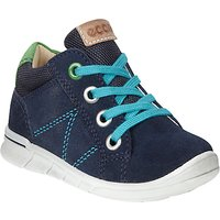 ECCO Childrens Lace-Up Suede Logo Shoes