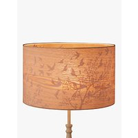 John Lewis Flock Birds Lampshade, Wood/Grey