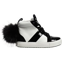 Mini Miss KG Childrens Bamboo High Top Trainers, White/Black