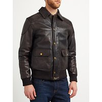 JOHN LEWIS & Co. Premium Leather Jacket, Brown