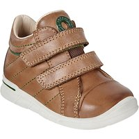 ECCO Childrens First Double Rip-Tape Leather Shoes, Tan
