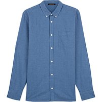 Jaeger Cotton Flannel Gingham Shirt, Blue