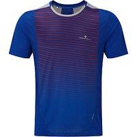 Ronhill Stride Short Sleeve Crew Neck Running T-Shirt, Cobalt Blue