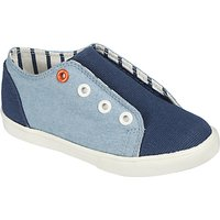 John Lewis Childrens Finlay Denim Double Rip-Tape Trainers, Blue