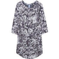 Joules Martha Printed Tunic Dress, Grey Floral