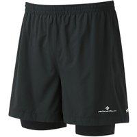 Ronhill Stride Twin 5 Running Shorts, Black