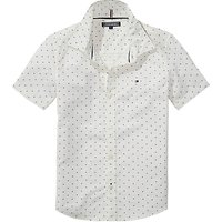 Tommy Hilfiger Boys Mini Print Shirt, White