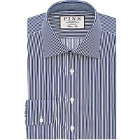 Thomas Pink Grant Classic Fit XL Sleeve Stripe Shirt, Navy/White
