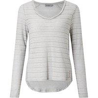 Calvin Klein Luca V-Neck Self Stripe Top, Light Grey Heather