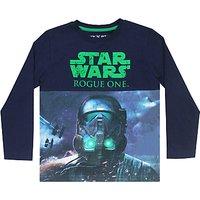 Star Wars Boys Rogue One Darth Vader Print T-Shirt, Navy