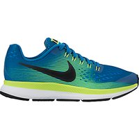 Nike Childrens Air Zoom Pegasus 34 Running Shoe, Blue
