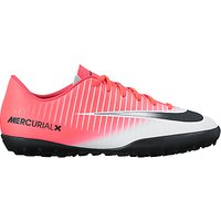 Nike Childrens Mercurial Vapor Turf Football Boots, Pink/White