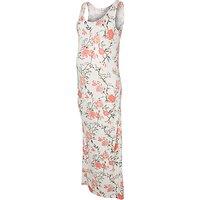 Mamalicious Delmira Floral Maxi Maternity Dress, White/Multi