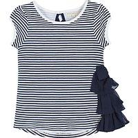 Angel & Rocket Girls Sienna Striped T-Shirt, Navy/White
