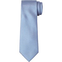 John Lewis Boys Puppytooth Tie, Blue/White