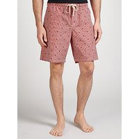 John Lewis Boat Stripe Lounge Shorts, Red