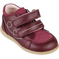John Lewis Childrens Ella Double Rip-Tape Shoes, Pink
