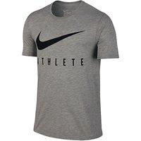 Nike Dri-FIT Swoosh Athlete Training T-Shirt, Grey Heather