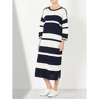Kin by John Lewis Striped Knitted Dress, Navy/White