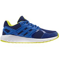 Adidas Duramo 8 K Lace-Up Childrens Trainers, Blue/Yellow