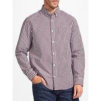 John Lewis Cotton Poplin Gingham Shirt