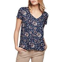 Gerard Darel Sierra Floral V-Neck T-Shirt, Blue