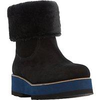 Dune Black Rome Flatform Ankle Boots