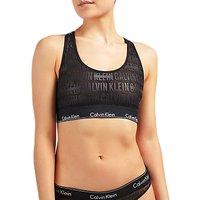 Calvin Klein Underwear Modern Cotton Censored Logo Bralette, Black