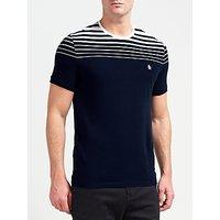 Original Penguin Short Sleeve Gradient Stripe T-Shirt, Dark Sapphire
